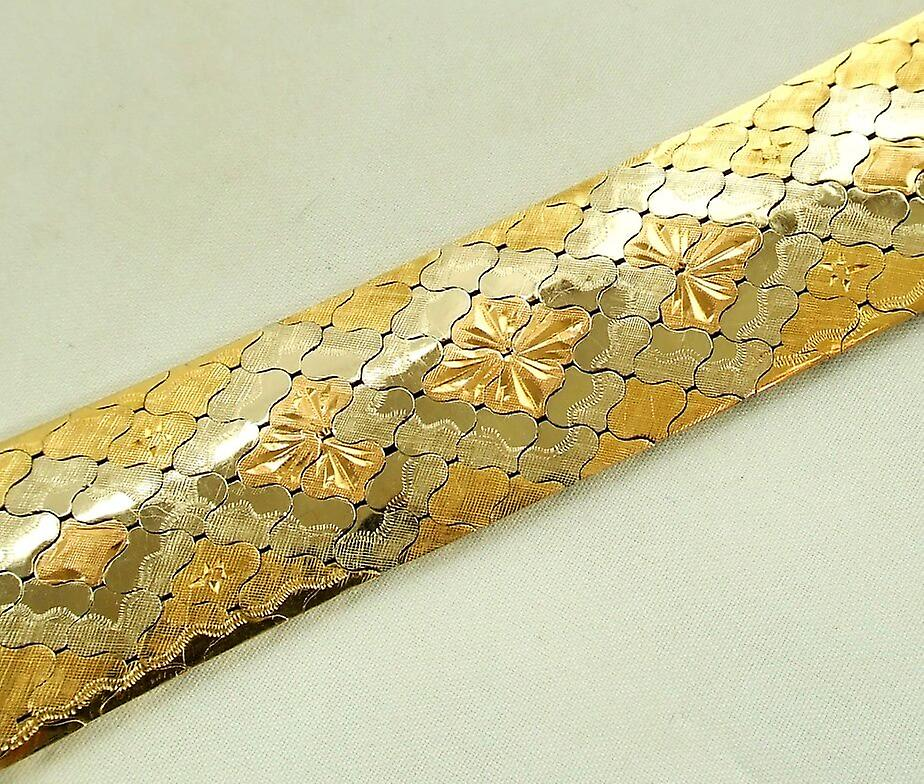 18 carat gold tricolor bracelet