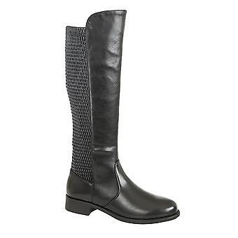 Cats Eyes Womens/Ladies Elasticated Calf High Leg Boots
