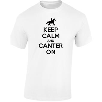 Keep Calm Canter On Horse Equestrian Kids Unisex T-Shirt 8 Colours (XS-XL) by swagwear