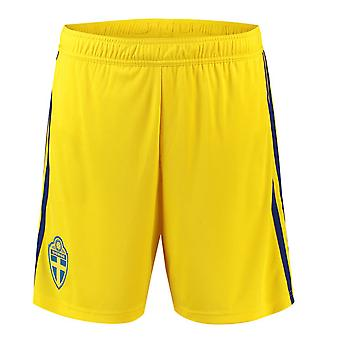 2018-2019 Sweden Away Adidas Football Shorts (Yellow)