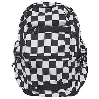 Urban classics - CHECKER back pack backpack black