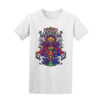Psychedelische Pilze Dance T-Shirt Herren-Bild von Shutterstock