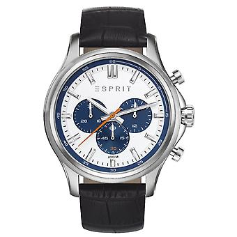 ESPRIT Herre watch armbånd ur Mathias læder Chrono ES108251003