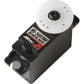 HITEC Mini servo HS-5087MH Digital servo material de la caja de engranajes: sistema de conector de Metal: JR