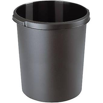 HAN 1834-13 Cesta de papel waste 30 l (Ø x H) 303 mm x 410 mm Black 1 pc (s)