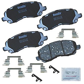 Bendix Premium Copper Free CFC866 Ceramic Brake Pad (with Installation Hardware Front), 4 Pack
