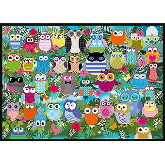 Schmidt Collage Of Owls II Jigsaw Puzzle (1000 Pieces)