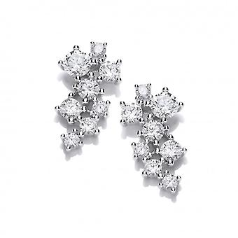 Cavendish French Silver and CZ Constellation Earrings