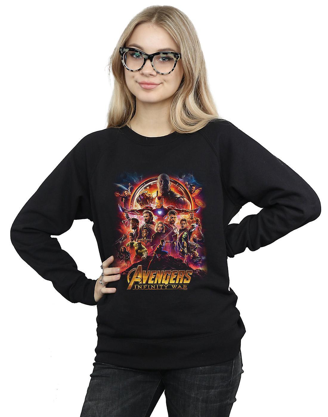 Marvel Women's Avengers Infinity War Movie Poster Sweatshirt