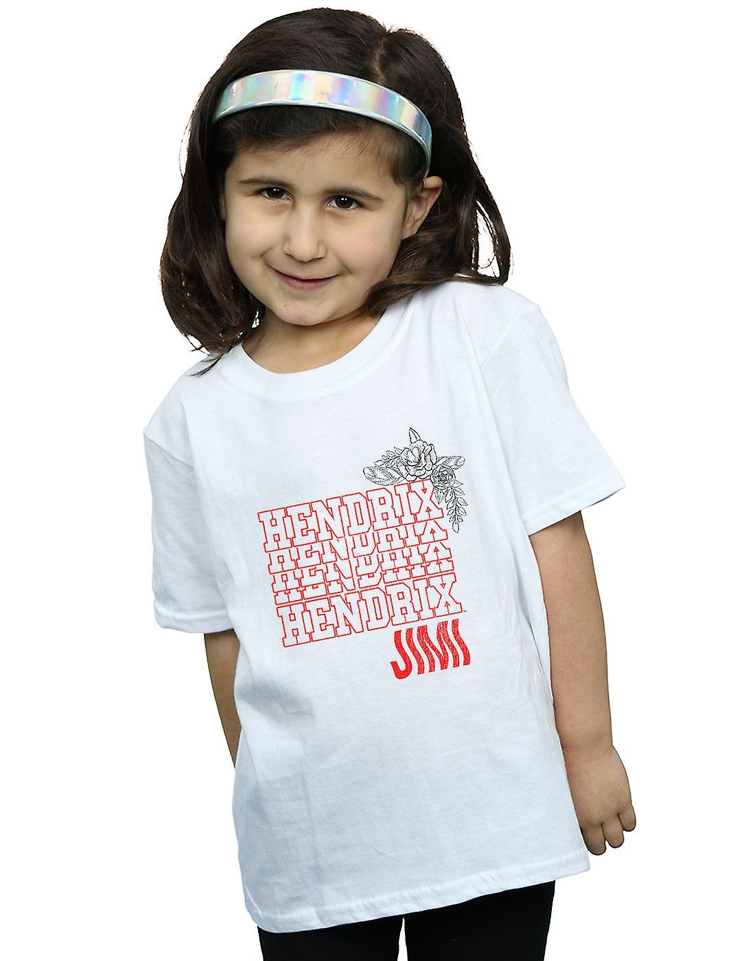 Jimi Hendrix Girls Flower Power T-Shirt