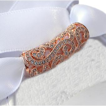 Rose Gold Crystal Swirl Tube Shoe Charm Laces