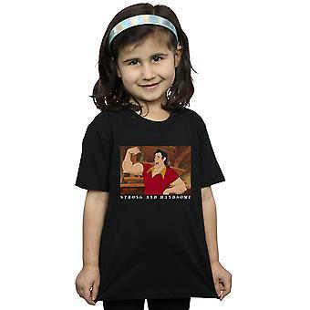 Дисней девушки красоты и зверь красивый грубой футболку