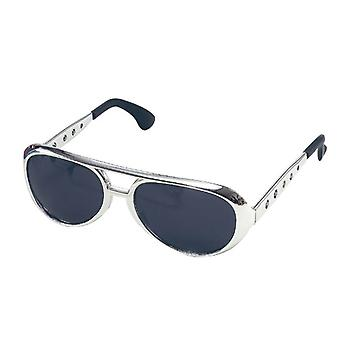 Elvis Sunglasses. Silver.