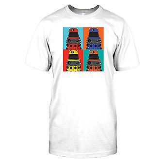 Dalek Pop Art - Warhol inspirerad Mens T Shirt