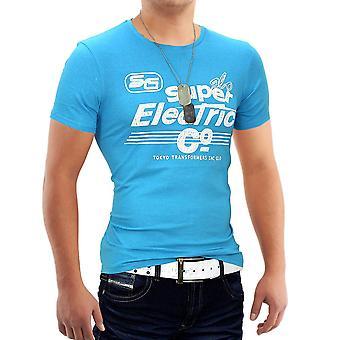 Herren Sommer T-Shirt Polo Stretch Slim-fit Hemd Clubwear Glo-Story