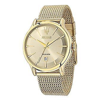 Maserati analog quartz watch with stainless steel band _ R8853118003