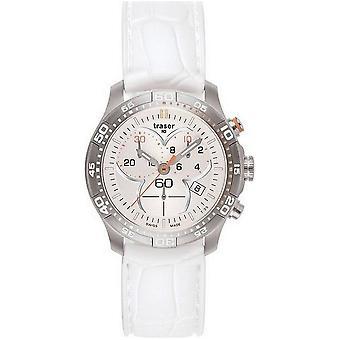 Traser H3 Ladytime zilver chronograaf dames horloge T7392. S5H. G1A. 08-100353