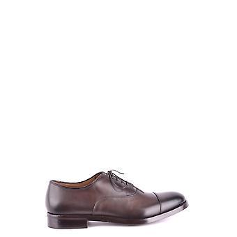 Doucal's Ezbc089006 Men's Brown Leather Lace-up Shoes
