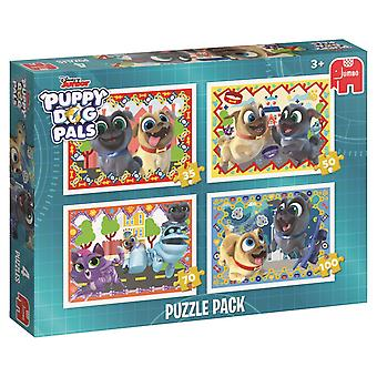Jumbo Welpe Kumpels Hund 4 in 1 Puzzle Pack