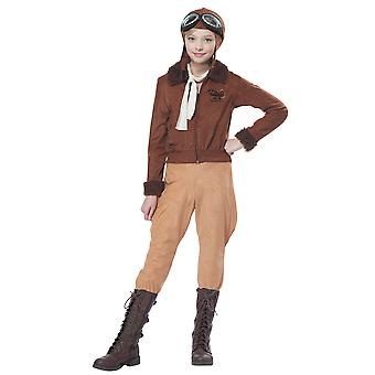 Amelia Earhart 1920s 30s Female Aviator Pilot Heroin Book Week Girls Costume