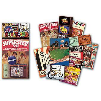 1970er Jahre Kindheit nostalgische Erinnerungsstücke zu packen