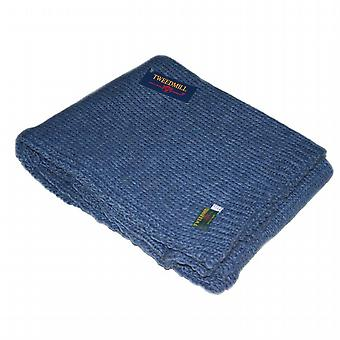 Blue Slate Knitted Throw / Blanket by Tweedmill