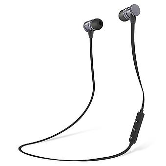 Magnetic In-Ear Bluetooth Headphones Remote + Microphone Black