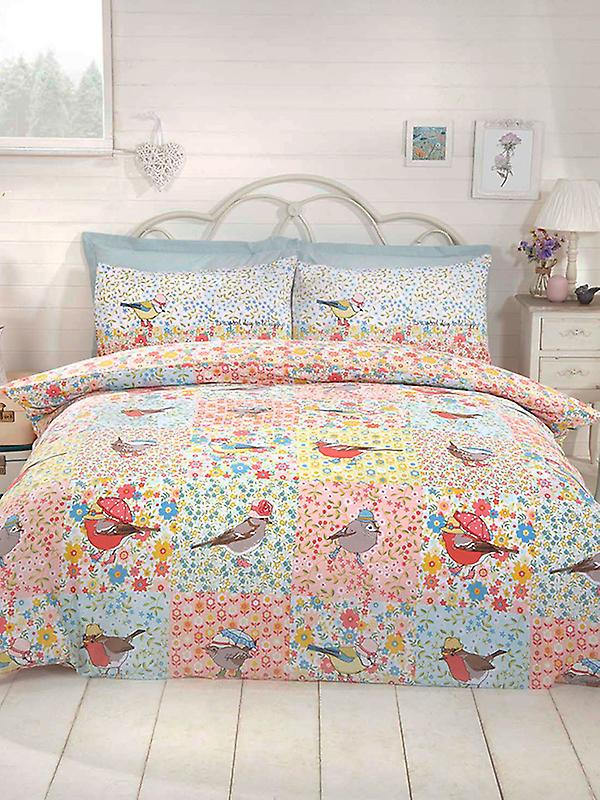 Hey Birdie Duvet Cover and Pillowcase Set