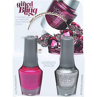 Morgan Taylor Gifted With Bling (With A Free Gift) - A Duo Nail Polish Pack (2 X 15ml)