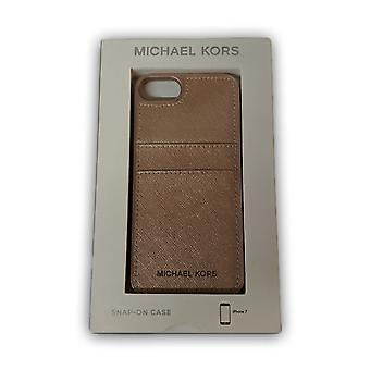 Alkuperäinen Michael Kors Saffiano nahka Snap-on tapa uksessa iPhone 8/7-baletti