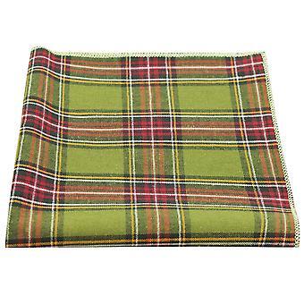 Traditionelle grün Tartan Tasche Platz, Taschentuch, Check, kariert