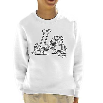 Grim My Alien støder på Kid's sweatshirt