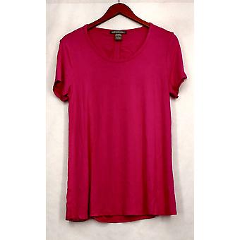 Kate & Mallory Top Scoop Neck Top w/ Cut Out Tie Back Pink Womens A432243