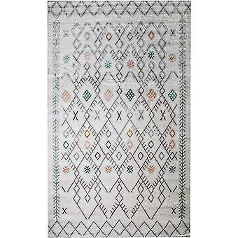 Pierre Cardin design matta i akryl Grädde/Grå