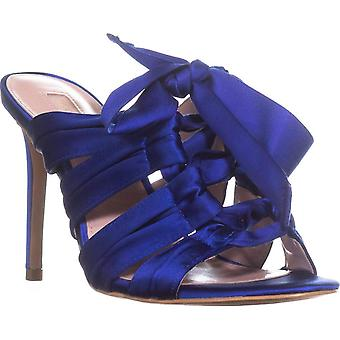 Avec Les Filles Womens Janelle Satin Open Toe Special Occasion Strappy Sandals