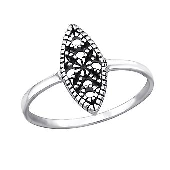 Marquise - 925 Sterling Silver Plain Rings - W30527X