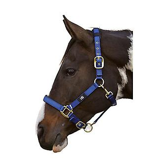 Hy Deluxe Padded Head Collar Navy - Pony