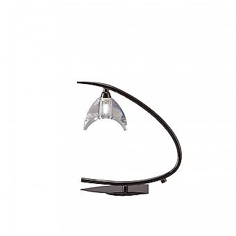 Mantra Eclipse Table Lamp 1 Light G9 Small, Black Chrome