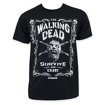 Walking Dead Survive Or Die Tee Shirt