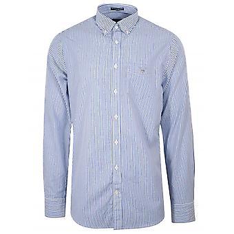 Gant College blå regelbunden passform Broadcloth bankir skjorta