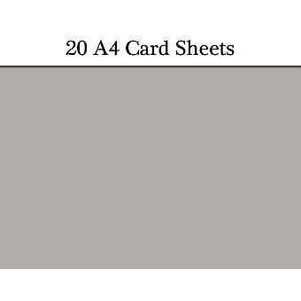 20 Grey A4 Card Sheets for Crafts   Coloured Card for Crafts