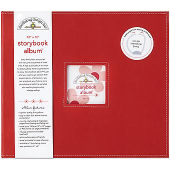 """Doodlebug Storybook D-Ring Albumi 12""""X12"""" - Leppäkerttu"""