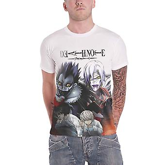 Death Note T Shirt The Evil Behind new Official Mens White Allover Print