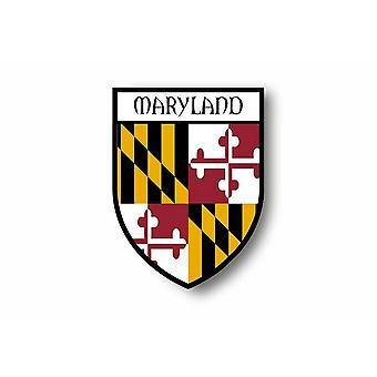 Sticker Sticker Sticker Motorcycle Car Blason City Flag USA Maryland