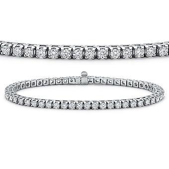Dazzlingrock Collection 8.00 Carat (ctw) 14K Round Cut Real Diamond Ladies Tennis Bracelet 8 CT, White Gold