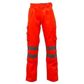 Standsafe HV023 Hi Vis Polycotton Work Trousers