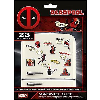 Deadpool ثلاجة مجموعة المغناطيس (حزمة من 23)