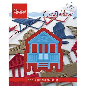 Marianne Design erstellbare der winzigen Strand Haus sterben, Metall, blau