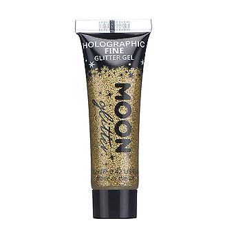 Cara holográfica y cuerpo Glitter Gel por Luna brillo - 12ml - oro - pintura brillo