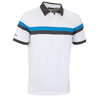Callaway Golf Mens Two Colour Block Contrast Opti-Dri Polo Shirt